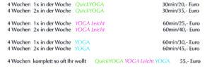Preise für YOGA per Skype Mai 2020