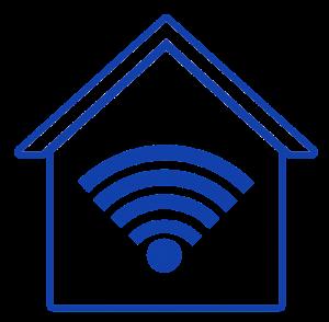 Symbolbild: Haus mit WLAN